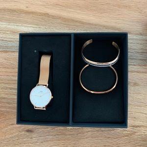 Daniel Wellington Rose Gold Watch and Bracelets